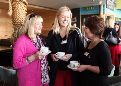 DWIB Urban Reef Networking Group of three women talking